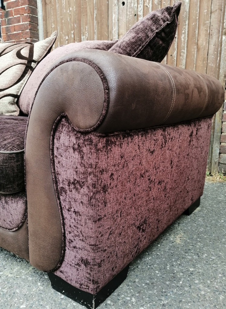 Brown Pillow Back DFS Sofa