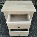 Solid Limed Oak Two Drawer Bedside Chest