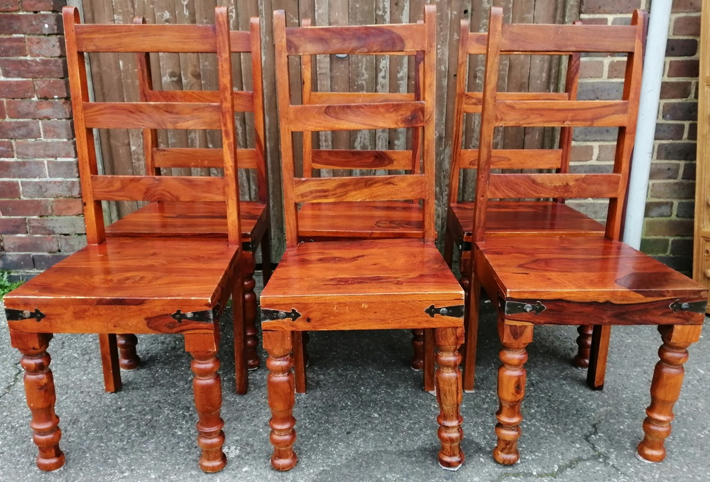 "4ft11"" Sheesham Dining Table & 6 Chairs"