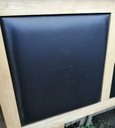 "4ft6"" Oak / Black Faux Leather Headboard"