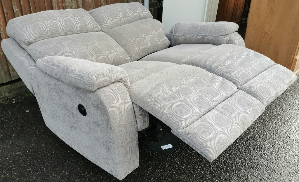 Electric Reclining Two Seater Sofa