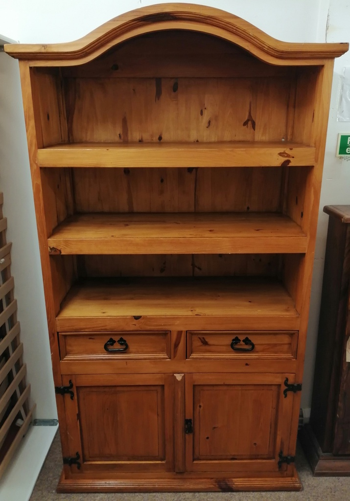 Mexican Pine Cupboard Base Bookcase
