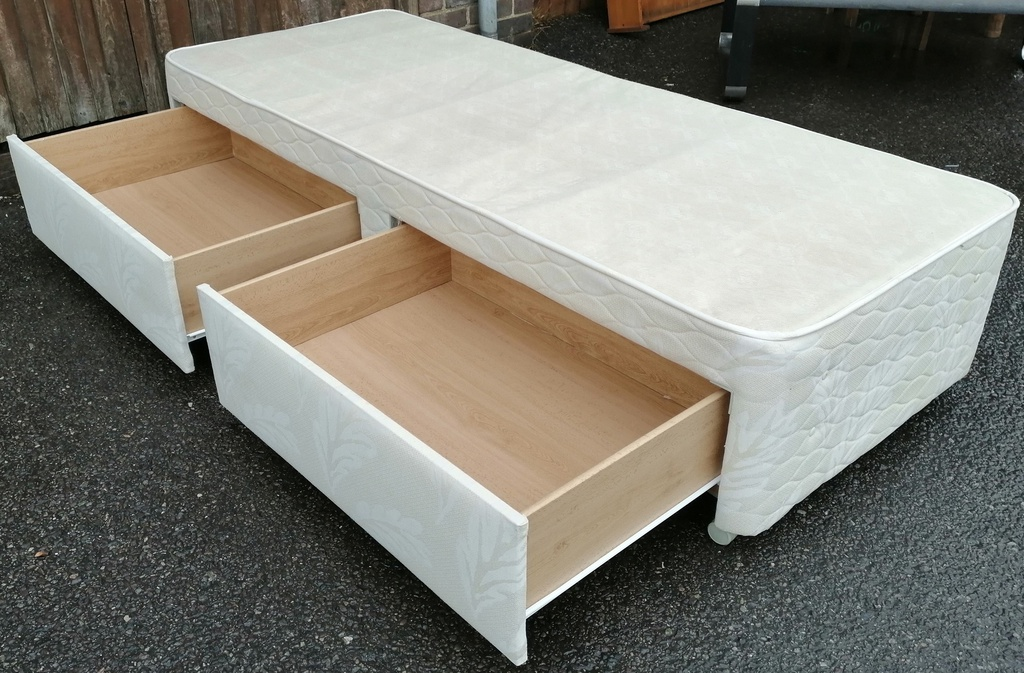 "2ft6"" Two Drawer Platform Top Divan Base"