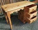 Solid Pine Desk / Dressing Table