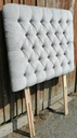 3ft Grey Ex-Show House Button Back Headboard