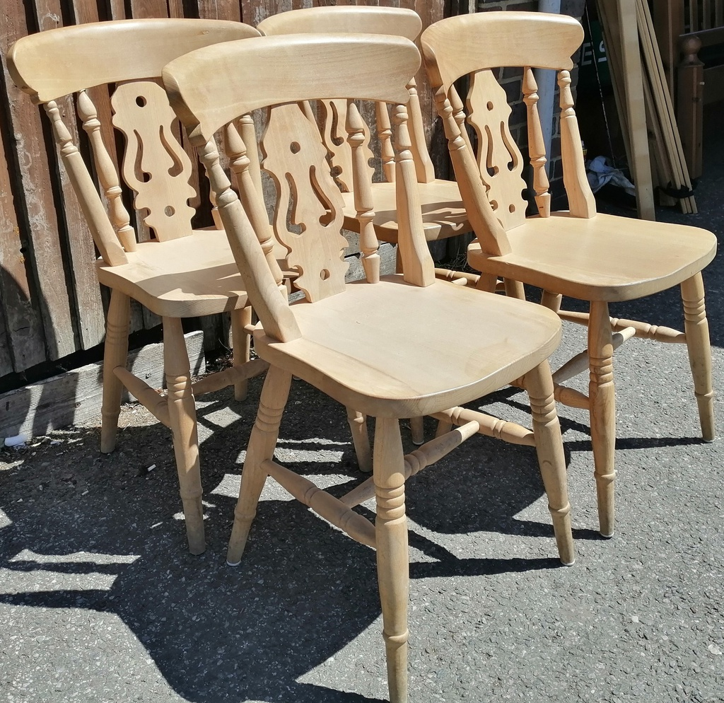 4 x Fiddle Back Chairs