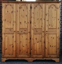 DUCAL Large Pine Four Door Wardrobe