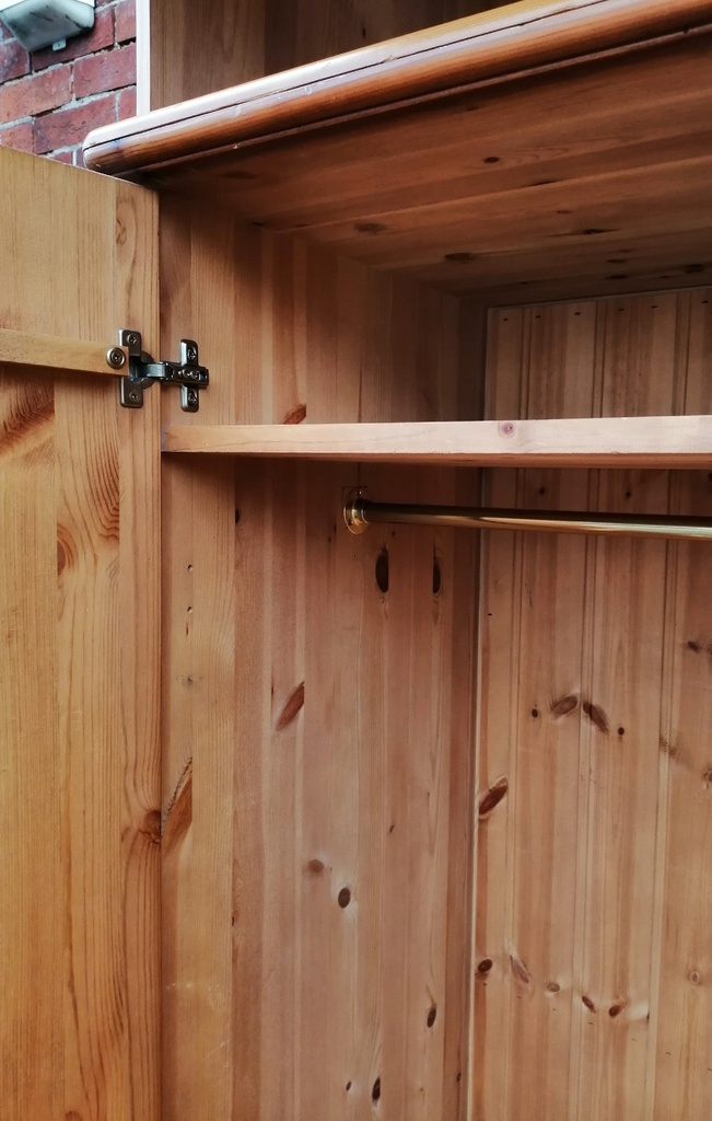 Pine Double Top Box Wardrobe