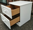 White Two Drawer Bedside Chest