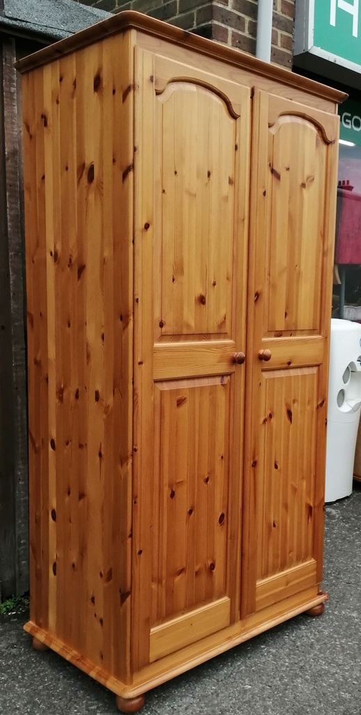 Honey Pine Double Wardrobe