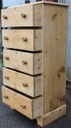 Tall Victorian Pine Chest