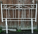 "4ft6"" Cream Metal Headboard"