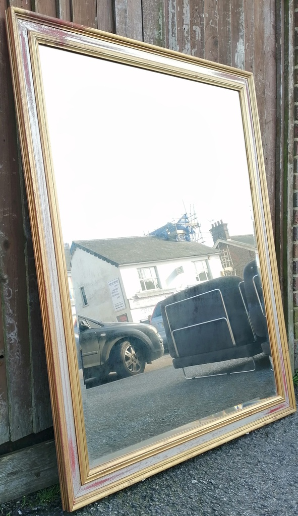 Distressed Large Mirror