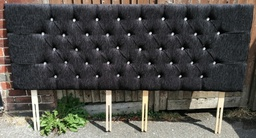 [HF1744] 6ft Black Buttoned Headboard