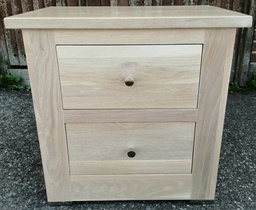 [HF2311] Solid Limed Oak Two Drawer Bedside Chest
