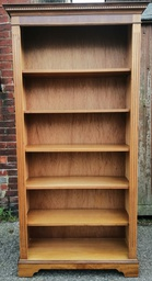 [HF3137] Tall Yew Repro Bookcase