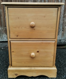 [19865] Two Drawer Pine Filing Cabinet