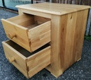 Solid Oak Two Drawer Bedside Chest