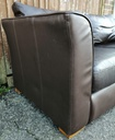 Brown Leather Three Seater Sofa