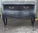 Black Marble Top Chest