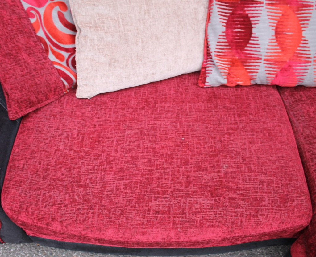 Red DFS Chaise End Sofa