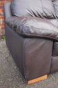Brown Leather Chaise End Sofa
