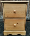 Two Drawer Pine Filing Cabinet
