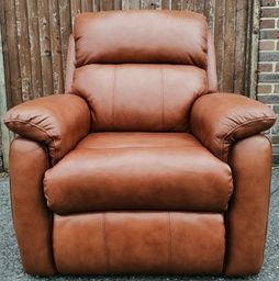 [19851] Brown Leather Rise & Recline Armchair