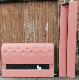 "[19856] 4ft6"" Dusty Pink Fabric Bed Frame"