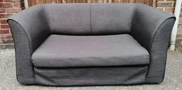[19876] Grey Fold Out Sofa Bed